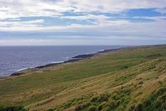 Una línea de la playa hawaiana - Kauai, Hawaii Imagen de archivo libre de regalías