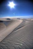 Una línea en la arena Imagen de archivo
