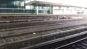 Una línea subterráneo de NYC Imagen de archivo