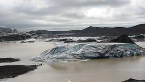 Una laguna del glacia Fotos de archivo libres de regalías