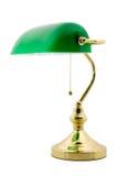 Una lampada classica dei banchieri Fotografia Stock Libera da Diritti