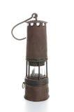 Una lampada del minatore fotografia stock