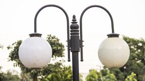 Una lampada del parco del parco immagine stock libera da diritti