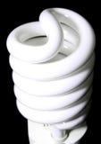 Una lampadina di CFL fotografia stock libera da diritti