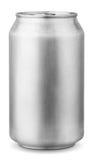 una latta di alluminio da 330 ml Fotografia Stock Libera da Diritti