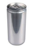 Una latta di alluminio di un prosecco di 200 ml, in bianco Immagini Stock