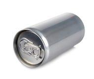 Una latta di alluminio di un prosecco di 200 ml e spazio in bianco Fotografie Stock
