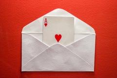 Una letra de amor… Foto de archivo libre de regalías
