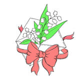 Una letra de la enhorabuena Foto de archivo libre de regalías