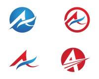 Una letra Logo Business Template Fotos de archivo libres de regalías