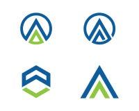 Una letra Logo Business Template Foto de archivo libre de regalías