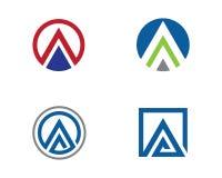 Una letra Logo Business Template Imágenes de archivo libres de regalías