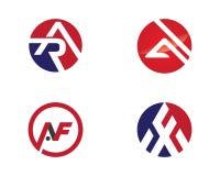 Una letra Logo Business Template Fotos de archivo