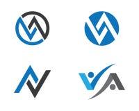 Una letra Logo Business Template Imagen de archivo libre de regalías