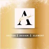 Una letra Logo Design Concept Foto de archivo libre de regalías