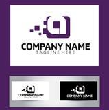 Una letra Logo Design Vector Business Card stock de ilustración