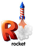 Una letra R para el cohete Fotografía de archivo libre de regalías