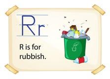 Una letra R para los desperdicios libre illustration