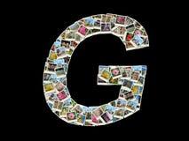 Una lettera - collage delle foto di corsa Fotografia Stock