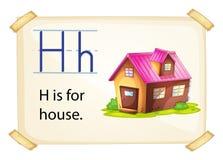 Una lettera H per la casa illustrazione di stock