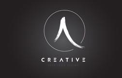 Una lettera Logo Design della spazzola Lettere scritte a mano artistiche Logo Co Fotografia Stock