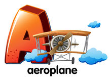 Una lettera A per l'aeroplano Fotografia Stock