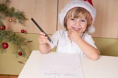 Una lettera a Santa Immagini Stock