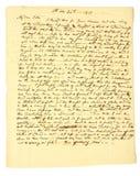 Una lettera scritta a mano di 1819 Fotografie Stock Libere da Diritti