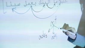 Una lezione della lingua araba nella scuola archivi video