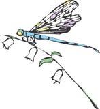 Una libélula stock de ilustración