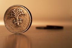 Una libra esterlina Foto de archivo libre de regalías