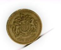 Una libra esterlina fotografía de archivo libre de regalías