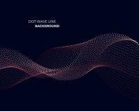 Una linea astratta elegante modello futuristico dell'onda del punto di vettore del fondo di stile illustrazione di stock