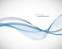 Una linea astratta elegante modello futuristico dell'onda di vettore del fondo di stile royalty illustrazione gratis