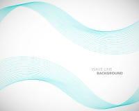 Una linea astratta elegante modello futuristico dell'onda di vettore del fondo di stile illustrazione di stock