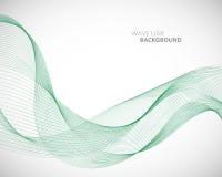 Una linea astratta elegante modello futuristico dell'onda di vettore del fondo di stile illustrazione vettoriale