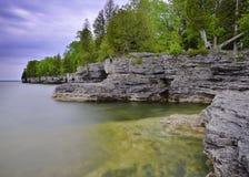 Una linea costiera di primavera Fotografia Stock Libera da Diritti