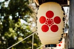 Una linterna japonesa Foto de archivo libre de regalías