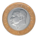Una lira turca Imagen de archivo