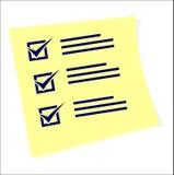 Una lista de comprobación con tareas de hacer stock de ilustración