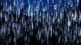 Una lluvia de las part?culas azules del brillo stock de ilustración