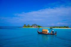 Una località di soggiorno di quattro stagioni in Maldive Immagini Stock Libere da Diritti