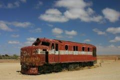 Una locomotiva nel deserto Immagini Stock Libere da Diritti
