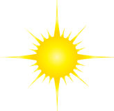 Una luce del sole Fotografia Stock