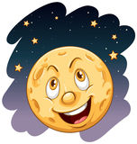 Una luna sorridente Immagine Stock Libera da Diritti