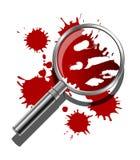 Concepto forense ilustración del vector
