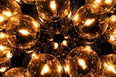 Una luz hecha de muchos bombilla fluorescente Foto de archivo