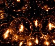 Una luz hecha de muchos bombilla fluorescente Imagen de archivo
