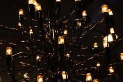 Una luz hecha de muchos bombilla fluorescente Imágenes de archivo libres de regalías