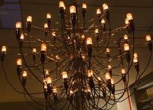 Una luz hecha de muchos bombilla fluorescente Imagen de archivo libre de regalías